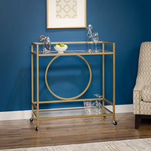 Load image into Gallery viewer, Lux Bar Cart, - Satin Gold