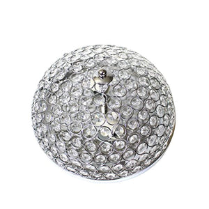 Elipse Crystal 2 Light Ceiling Flush Mount, Chrome - EK CHIC HOME