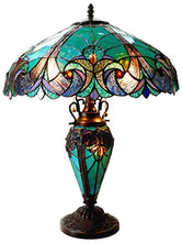 Load image into Gallery viewer, Liaison Tiffany Victorian 3 Light Double Lit Table Lamp - EK CHIC HOME