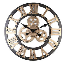 Load image into Gallery viewer, Retro Gear Clock Wall Clock Wooden 3D (Gold, 16 inch) - EK CHIC HOME
