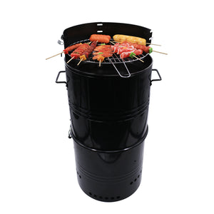 14-Inch Multi-Function Barbecue and Charcoal Smoker Grill
