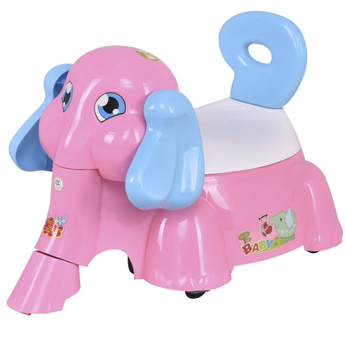 Baby Potty Training Toilet Trainer Seat with Music Function Pink Elephant