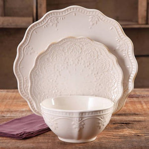Lace 12-Piece Dinnerware Set - EK CHIC HOME