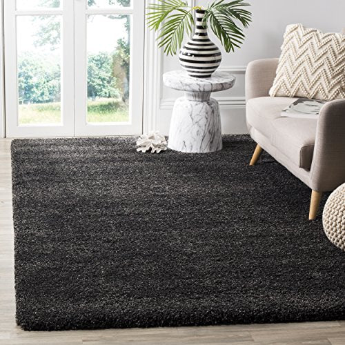 Milan Shag Collection Grey Area Rug - EK CHIC HOME