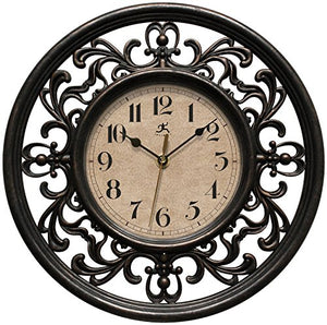Infinity Instruments Sofia 12 inch Silent Sweep Wall Clock - EK CHIC HOME