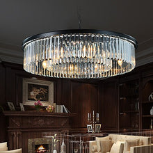 "Load image into Gallery viewer, Contemporary Chandelier D33.5"" (8 Lights) - EK CHIC HOME"