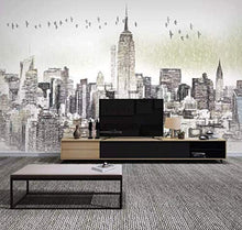 Load image into Gallery viewer, Charcoal City Wallpaper New York City Wall Mural Wall Art Architecture - EK CHIC HOME