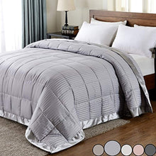 Load image into Gallery viewer, LUX Lightweight Down Alternative Blanket with Satin Trim - EK CHIC HOME