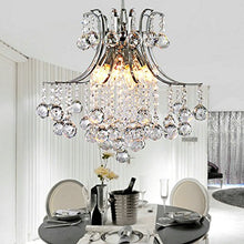 Load image into Gallery viewer, Modern 6 Lights Chrome Finish Crystal Chandelier - EK CHIC HOME