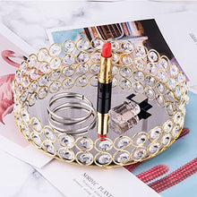 Load image into Gallery viewer, Crystal Beads Round Mirrored Decorative Tray - EK CHIC HOME
