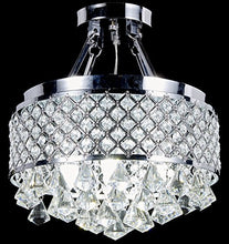 Load image into Gallery viewer, 4-light Chrome Finish Round Metal Shade Crystal Chandelier - EK CHIC HOME
