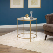 Load image into Gallery viewer, 3 Piece Coffee Table Set with Coffee Table and Set of 2 End Table in Satin Gold - EK CHIC HOME