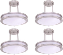 "Load image into Gallery viewer, 12"" (4 Pack) LED Semi Flush Mount Ceiling Light, Dimmable - EK CHIC HOME"