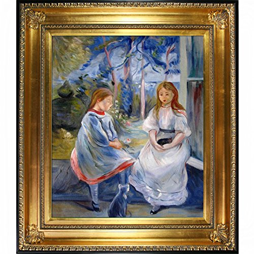 Little Girls at the Window by Morisot with Regency Gold Frame - EK CHIC HOME
