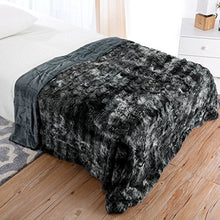 Load image into Gallery viewer, Luxury Super Soft Faux Fur Fleece Warm Breathable Lightweight (60x80, Twin Size Black) - EK CHIC HOME