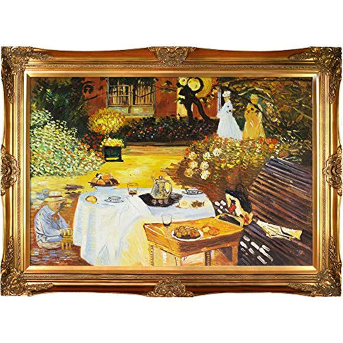 Monet The Luncheon with Victorian Gold Frame - EK CHIC HOME