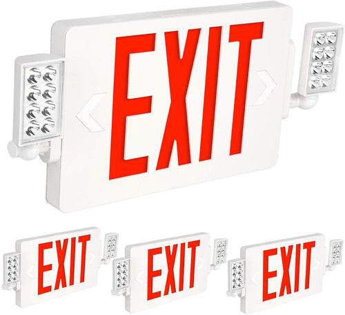 Ultra Slim Red Exit Sign - 4 Pack - EK CHIC HOME