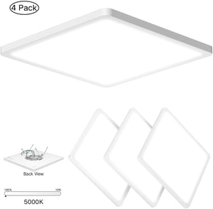 (4PACK) Super Slim 0.5 Inch Thickness 12 Inch LED Ceiling Light Fixture - EK CHIC HOME