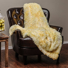 "Load image into Gallery viewer, Fur Sherpa Throw BlanketSuper Soft Shaggy Fuzzy Fluffy Elegant (50"" x 65"") - EK CHIC HOME"