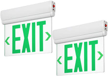 Load image into Gallery viewer, LED Edge Lit Green Exit Sign Single Face - Rotating Panel- Pack of 2 - EK CHIC HOME