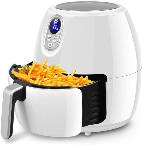 Electric Air Fryer, 4.8 Qt. w/Touch LCD Screen - EK CHIC HOME
