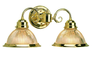 2 Light Wall Light, Polished Brass - EK CHIC HOME