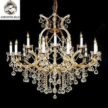 Load image into Gallery viewer, Swarovski Crystal Trimmed Chandelier 37X38 W/Crystal Balls - EK CHIC HOME