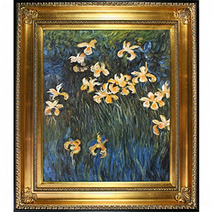 Monet Yellow Irises with Regency Gold Frame Finish - EK CHIC HOME