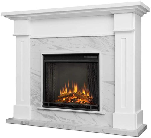 Real Flame Kipling Electric Fireplace in White Marble - EK CHIC HOME