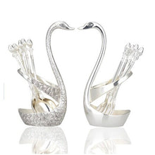 Load image into Gallery viewer, Luxury Swan Forks and Spoons Set Serving Spoons Forks 14 pcs Stainless Steel- Golden - EK CHIC HOME