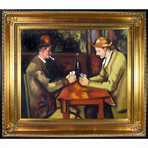 Card Players with Pipes Regency Frame, Gold - EK CHIC HOME