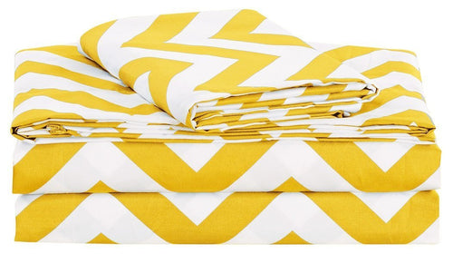 4-piece Chevron Zig Zag Patterns Sheet Set - EK CHIC HOME