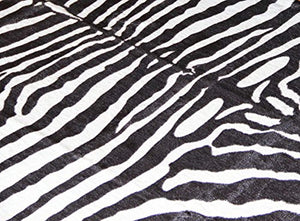 Soft Faux Zebra Print Rug 5x4.3 Feet Animal Rug - EK CHIC HOME