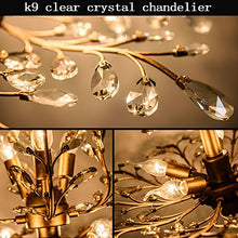 Load image into Gallery viewer, 7-Light Vintage Crystal Chandeliers Ceiling Lights LED Light - EK CHIC HOME