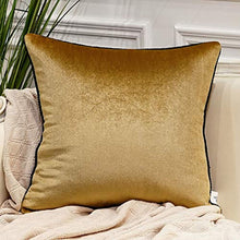 Load image into Gallery viewer, Gold Pack of 2 Luxury Velvet Soft Decorative Square Throw Pillow Covers -24 x 24 - EK CHIC HOME