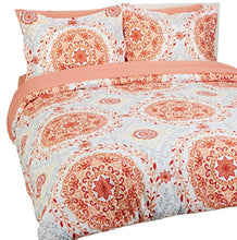 Load image into Gallery viewer, 7-Piece Bed-In-A-Bag - Full/Queen, Coral Medallion - EK CHIC HOME