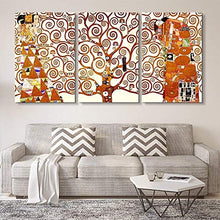 Load image into Gallery viewer, 3 Panel World Famous Painting Reproduction on Canvas Wall Art - Tree of Life by Gustav Klimt - EK CHIC HOME