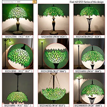 Load image into Gallery viewer, Tiffany Reading Floor Lamp Green Wisteria Arched Stained Glass Lamp - EK CHIC HOME