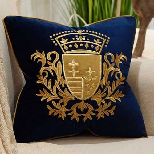 Embroidery Velvet Luxury European Pillow Case - EK CHIC HOME