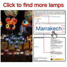 Load image into Gallery viewer, Handmade Mosaic Glass Table Lamp Moroccan Lantern - EK CHIC HOME
