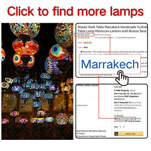 Handmade Mosaic Glass Table Lamp Moroccan Lantern - EK CHIC HOME