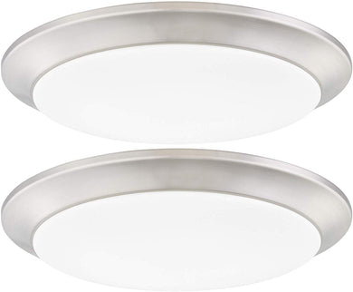 LED Flush Mount Ceiling Lighting Fixture, 9 Inch- 2-Pack - EK CHIC HOME