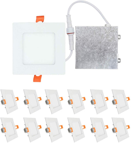 (12 Pack) 4 inch 9W LED Light with Junction Box - EK CHIC HOME