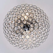 Load image into Gallery viewer, 2 Lights 11.8 Inches Bowl Shaped Chrome Finish Crystal Flush Mount Ceiling Light - EK CHIC HOME