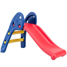 Load image into Gallery viewer, Folding Slide, Indoor First Slide Plastic Play Slide Climber for Kids (Round Rail) - EK CHIC HOME