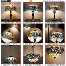 Load image into Gallery viewer, Tiffany Floor Lamp Stained Glass Lotus Lampshade in 64 Inch Tall Antique Arched Base - EK CHIC HOME