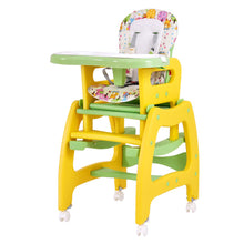 Load image into Gallery viewer, Baby High Chair, 3 in 1 Convertible Play Table Set, Booster Rocking Seat with Removable Feeding Tray, 5-Point Harness, - EK CHIC HOME