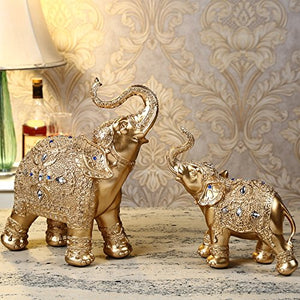 Large Size Mother and Baby Elephant Wealth Lucky Statue - EK CHIC HOME