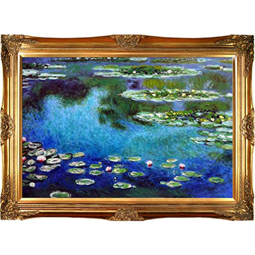 Monet Water Lilies Painting with Victorians Gold Finish Frame - EK CHIC HOME