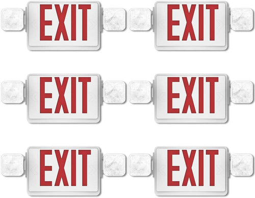 6 Pack Double Sided LED Emergency EXIT Sign - EK CHIC HOME